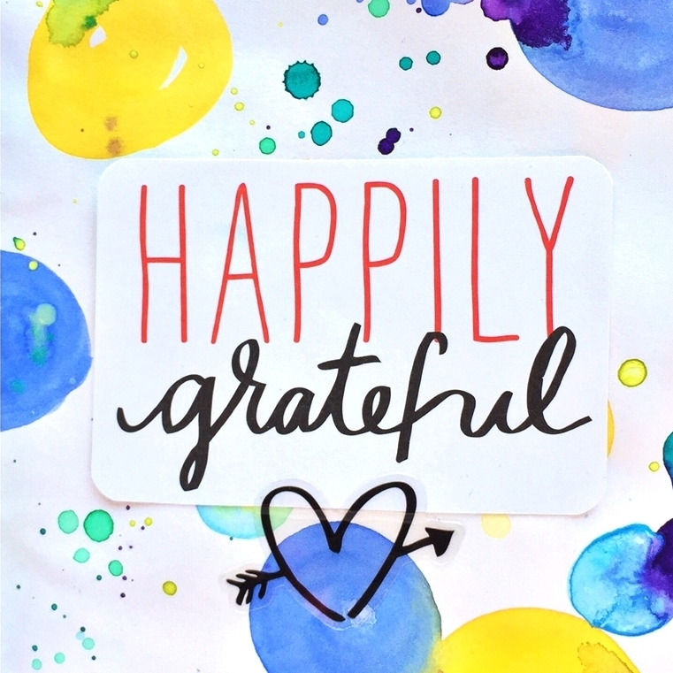 'Happily Grateful' art journal pages w/ POCKET PAGES™
