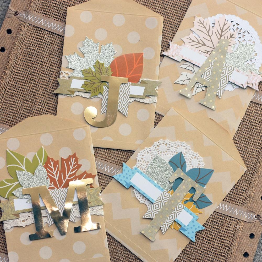 Gratitude Board w/ a pocket for each family member