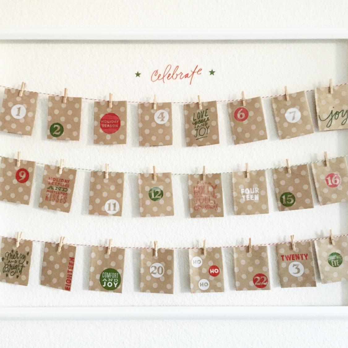 Advent Calendar using new holiday mambiSTICKS