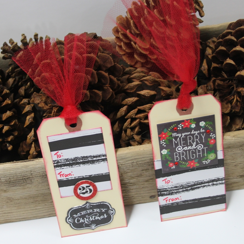 tulle-tied gift tags using mambiSHEETS