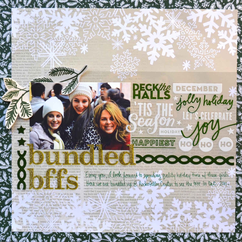 'bundled bffs' layout using the new holiday mambiKIT