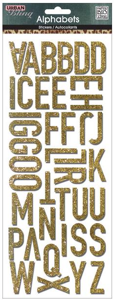 Gold Glitter Urban Bling mambiSTICKS | me & my BIG ideas