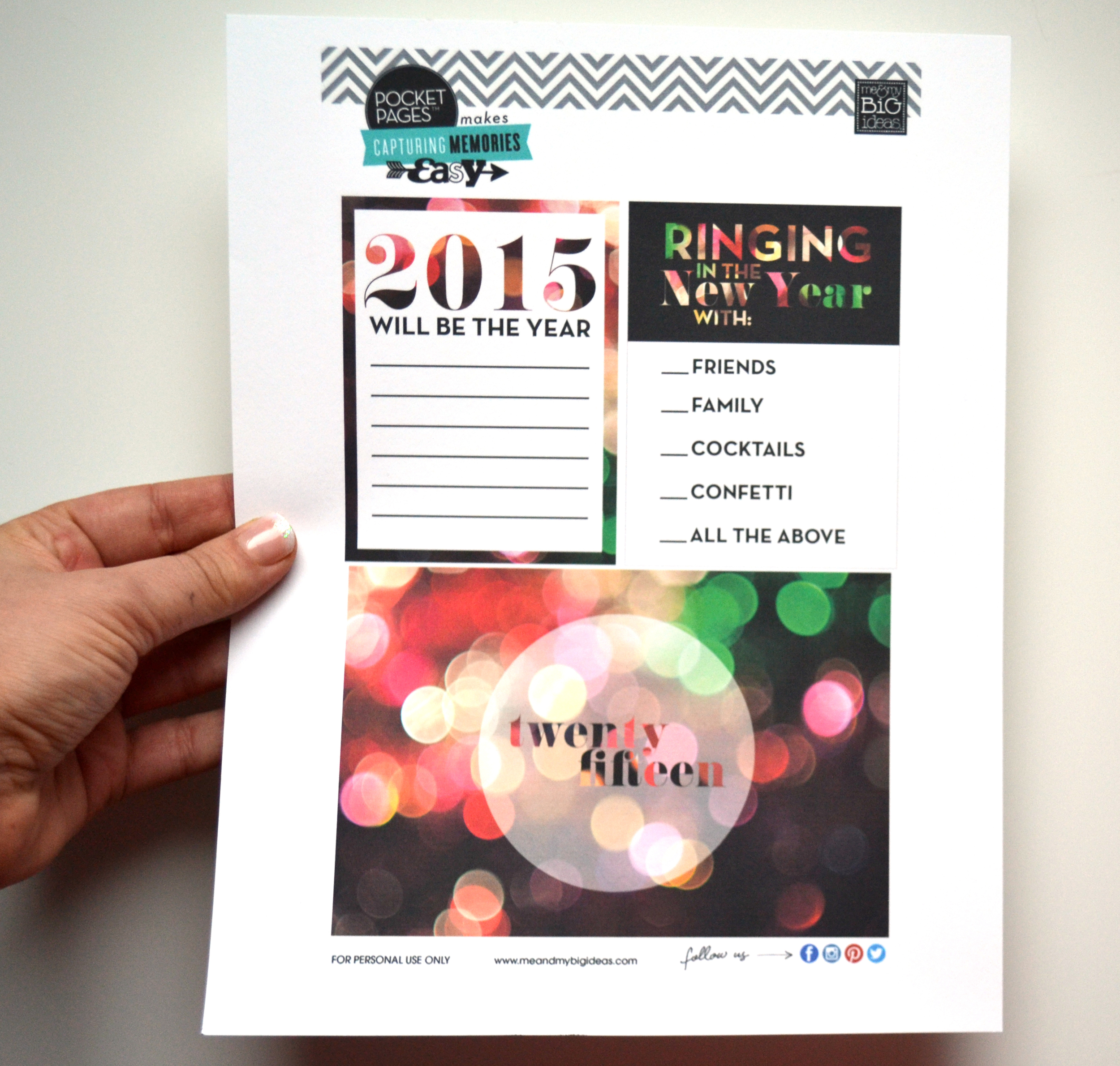 New Year 2015 Free POCKET PAGES™ Printable | me & my BIG ideas