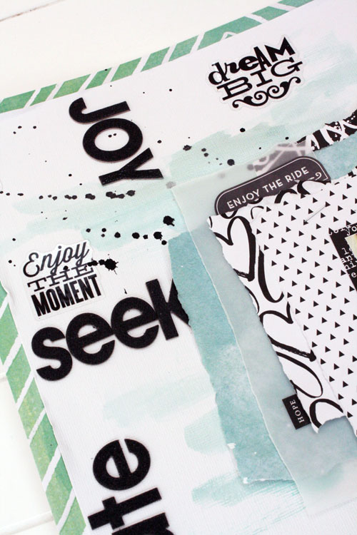 one little word™ scrapbook page by mambi Design Team member Jen Randall | me & my BIG ideas