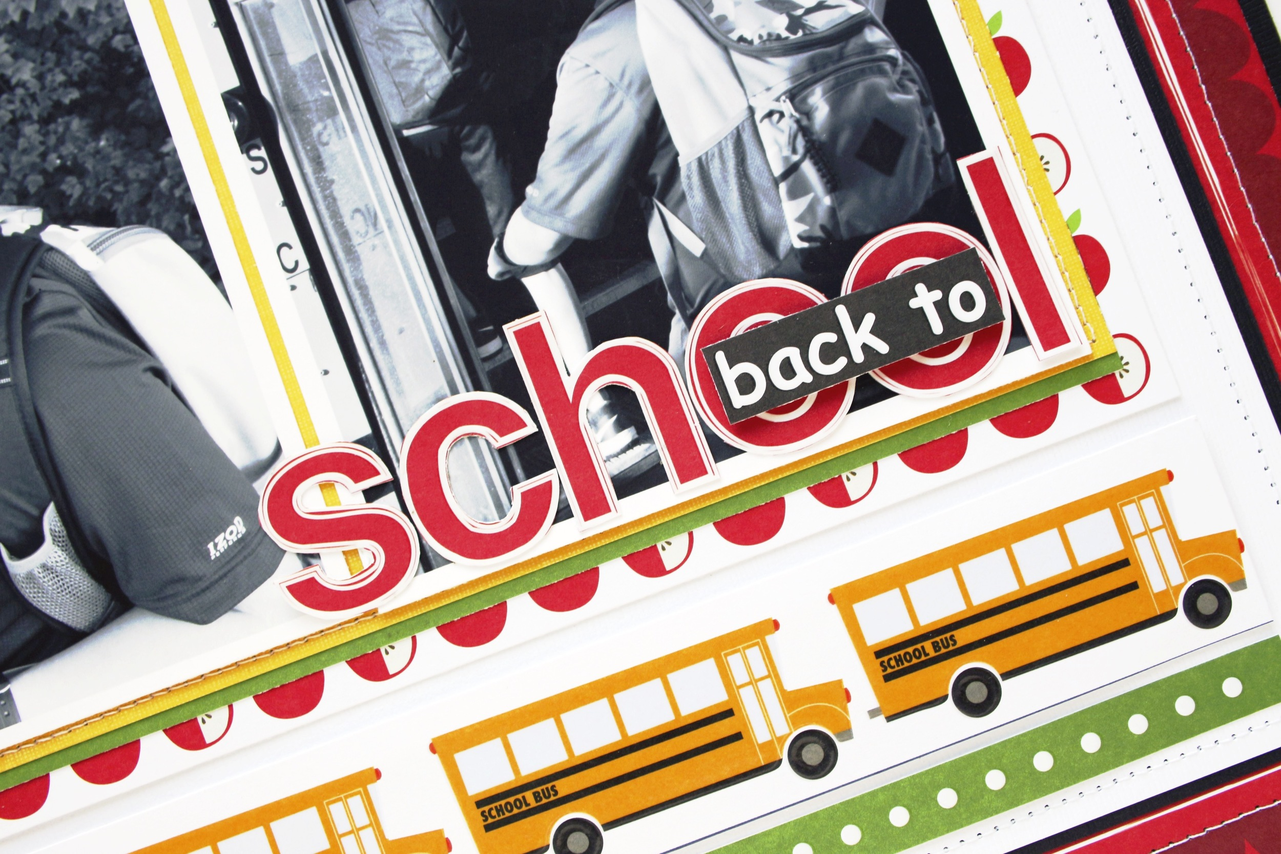 'back to school' scrapbook page oy Design Team member Mary-Ann Maldonado