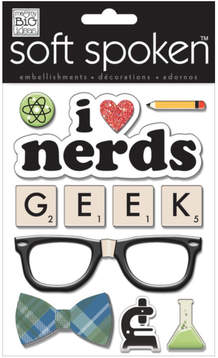 'I Love Nerds' SOFT SPOKEN™ stickers | me & my BIG ideas