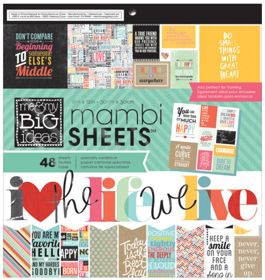 'Quoted' 12x12 mambiSHEETS paper pad | me & my BIG ideas