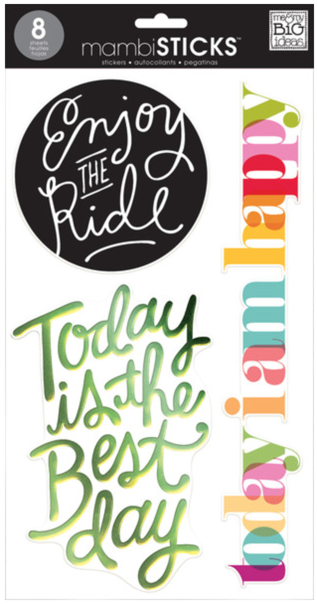 'Today' mambiSTICKS jumbo stickers | me & my BIG ideas
