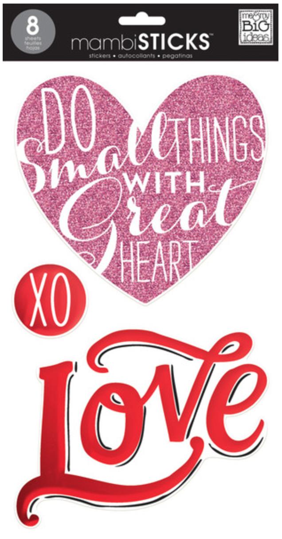 'Love' mambiSTICKS jumbo stickers | me & my BIG ideas