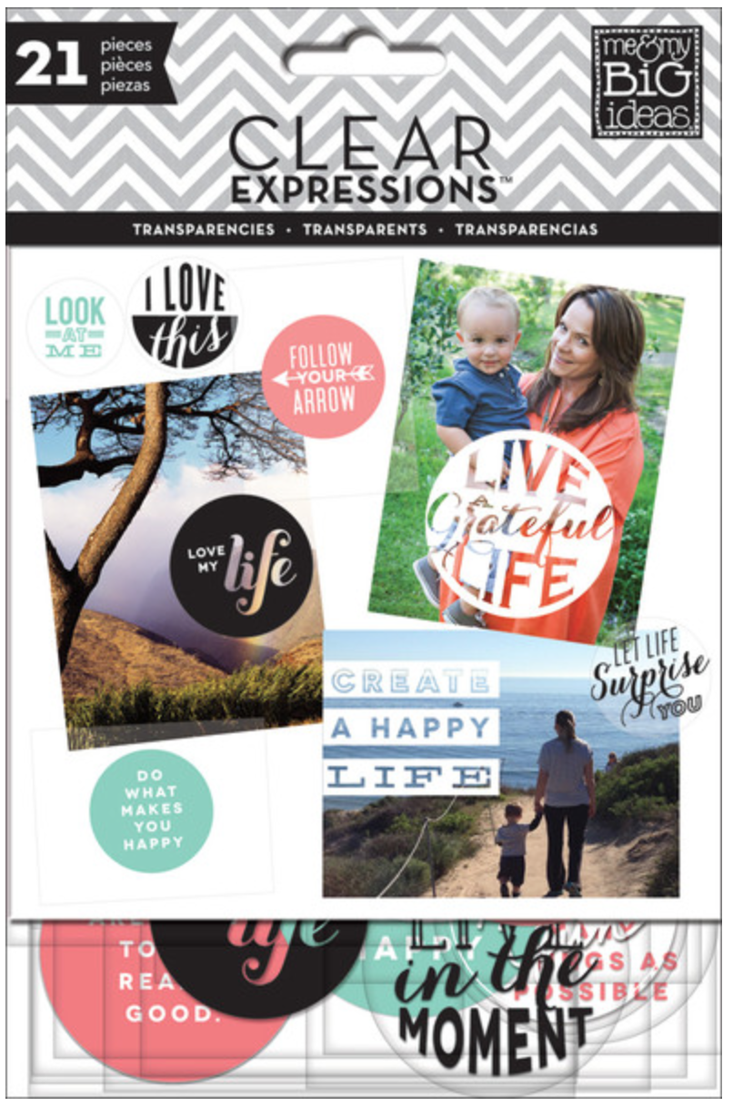 'Create a Happy Life' ClearExpressions transparencies | me & my BIG ideas