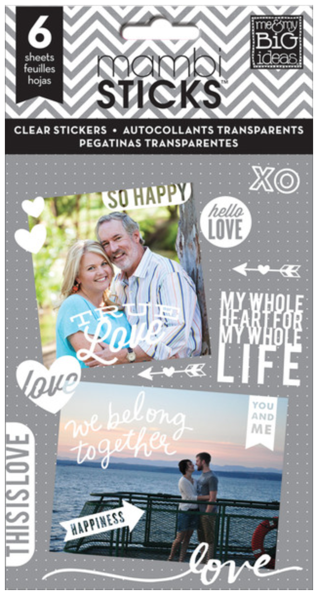 'So Happy' mambiSTICKS clear stickers | me & my BIG ideas