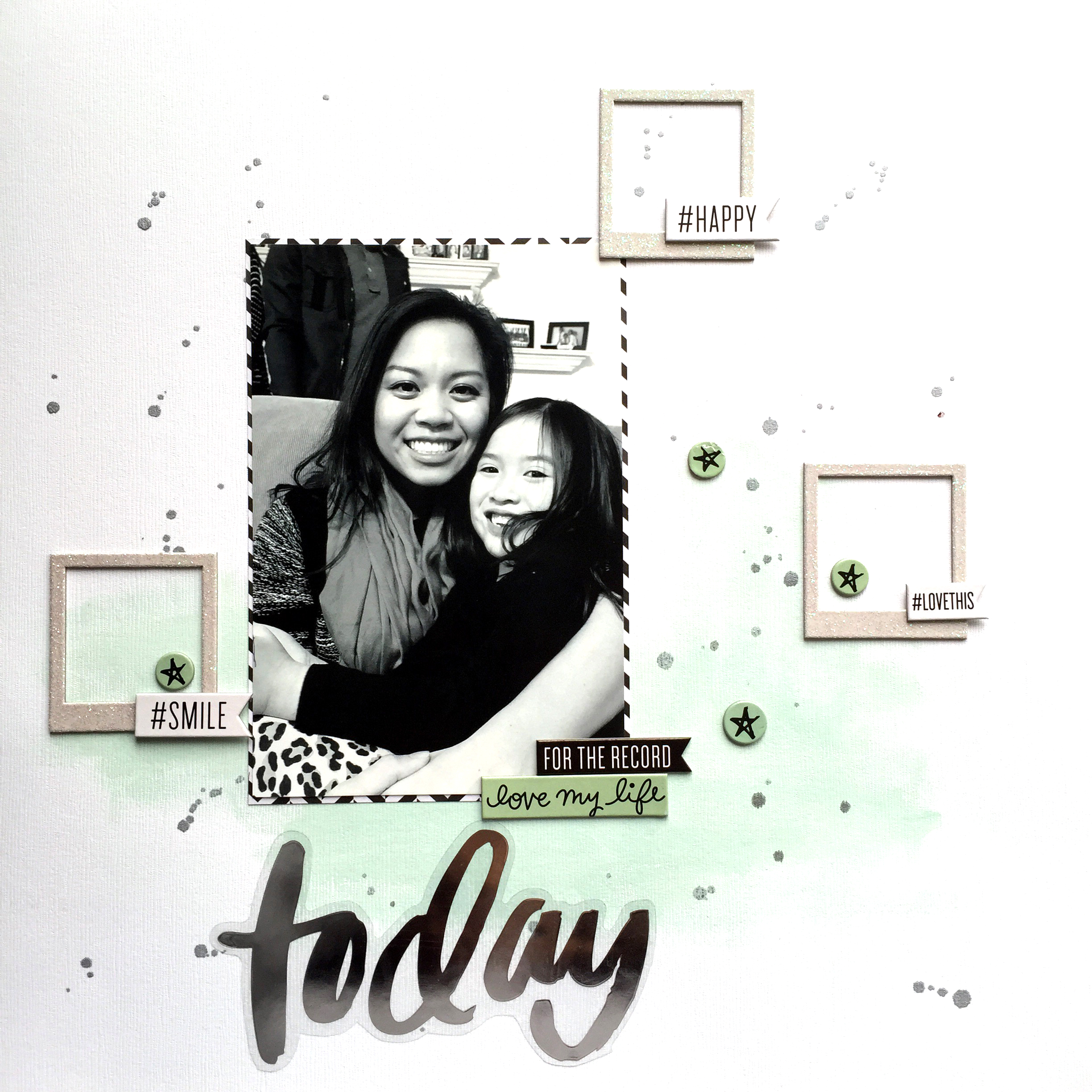 'Today' scrapbook layout by mambi Design Team member Theresa Doan | me & my BIG ideas