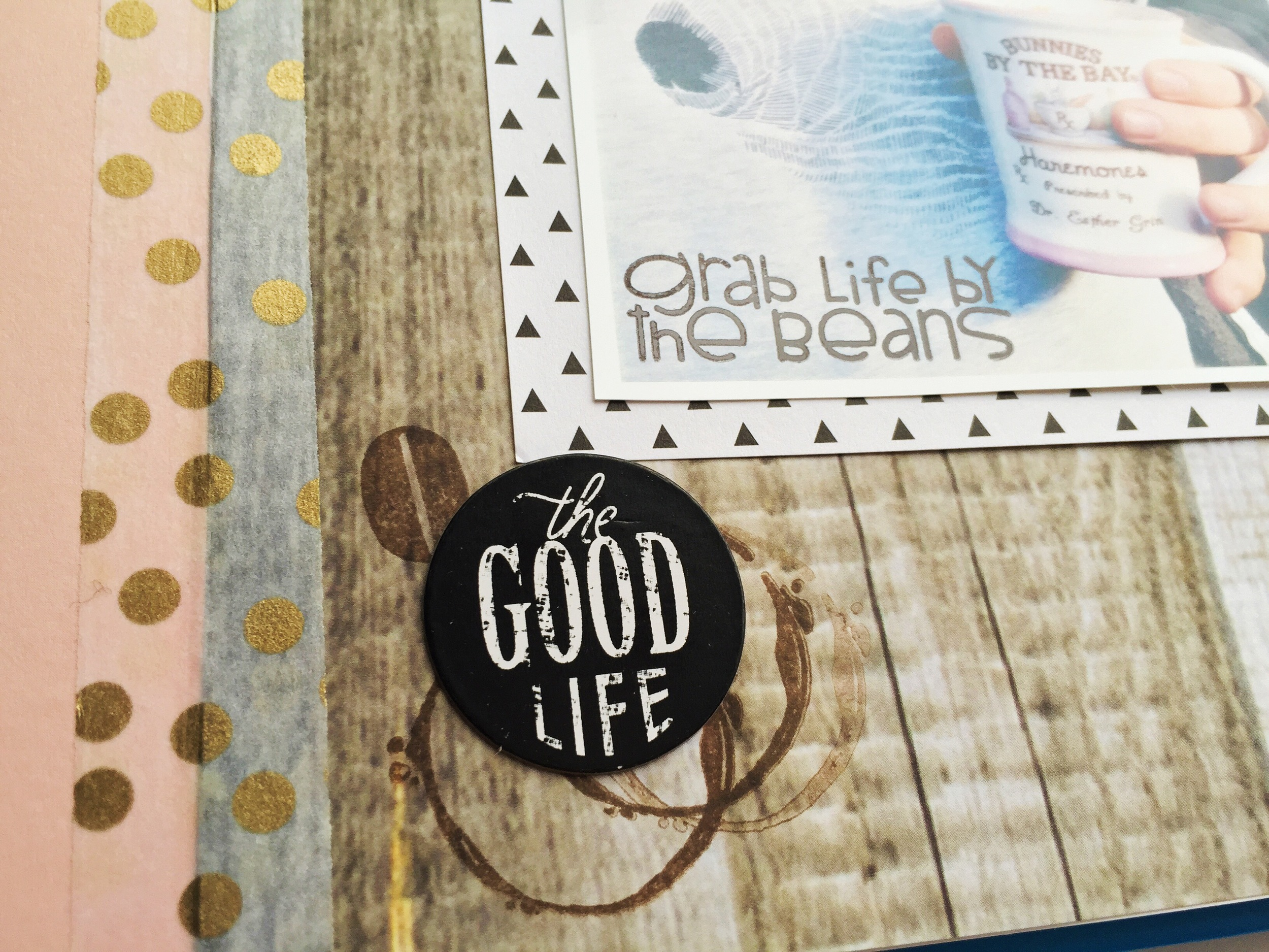 """Grab Life by the Beans"" Art Journal pages by mambi Design Team member Olya Schmidt 