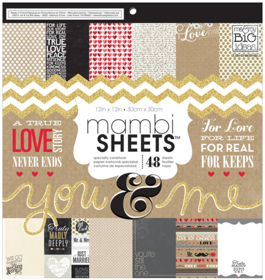 'You & Me' 12x12 mambiSHEETS paper pad | me & my BIG ideas