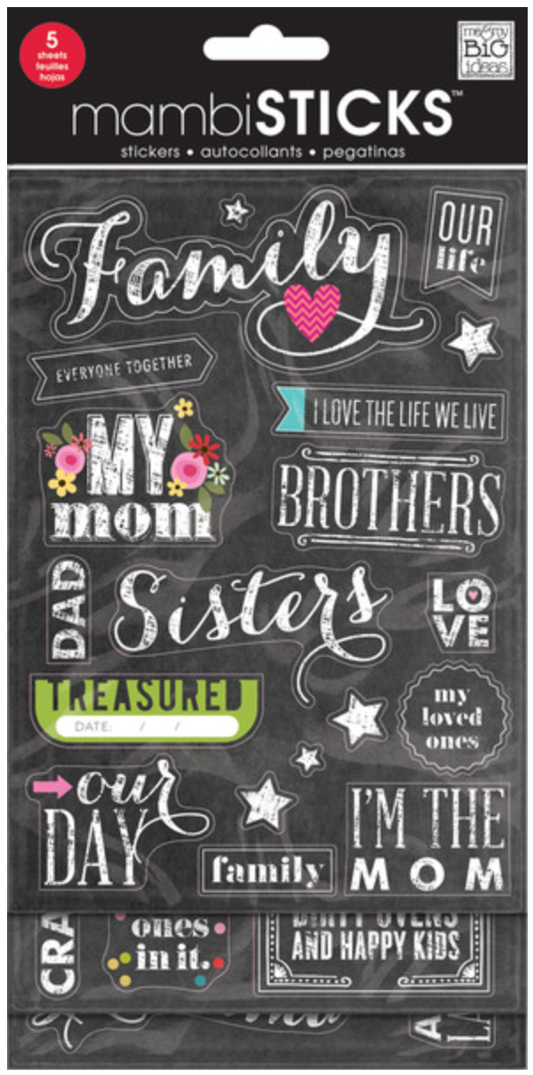 'Family' mambiSTICKS Chalkboard Value Pack | me & my BIG ideas