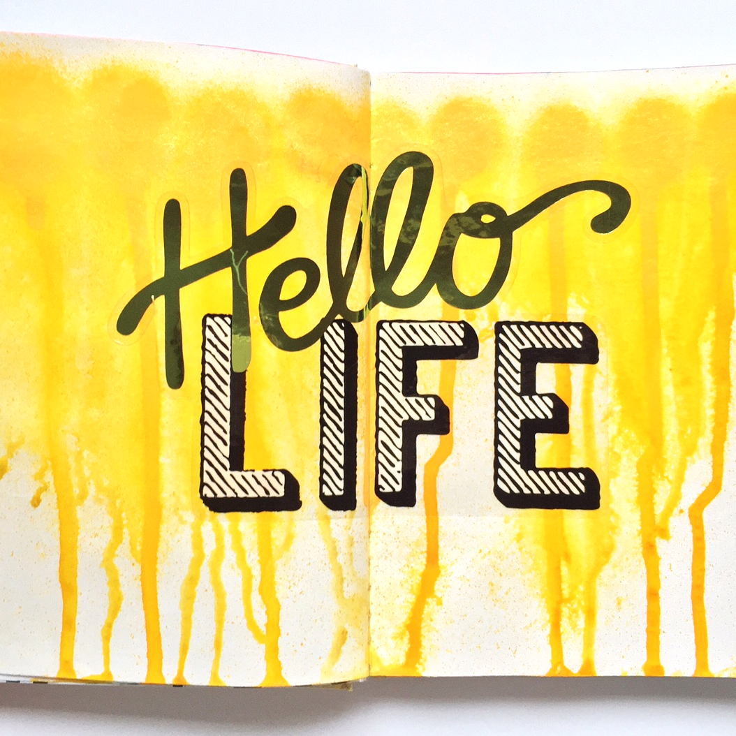 a collection of art journal pages created for CHA