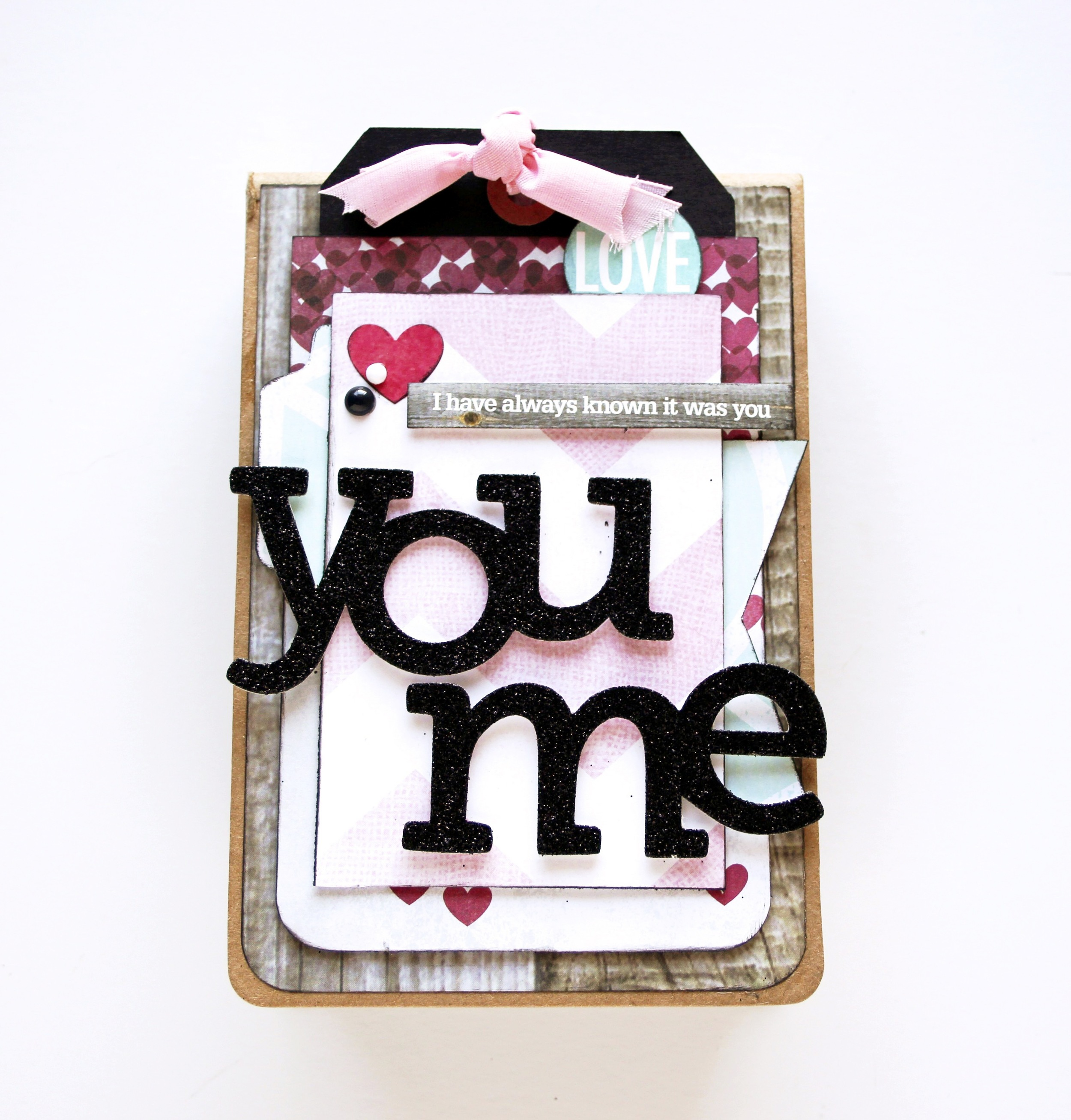 'You & Me' mini book for Valentine's Day by mambi Design Team member Mary-Ann Maldonado | me & my BIG ideas