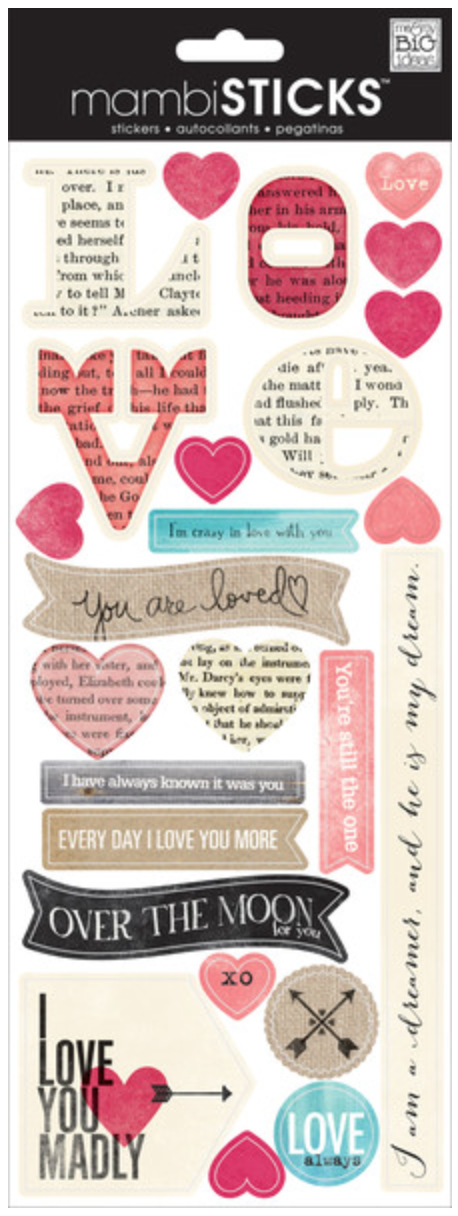 'I Love You Madly' mambiSTICKS Valentine's stickers | me & my BIG ideas