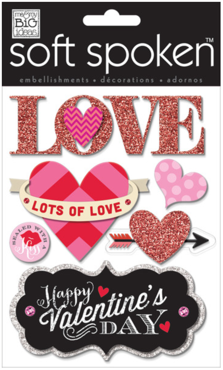 'Lots of Love' SOFT SPOKEN™ Valentine's stickers | me & my BIG ideas