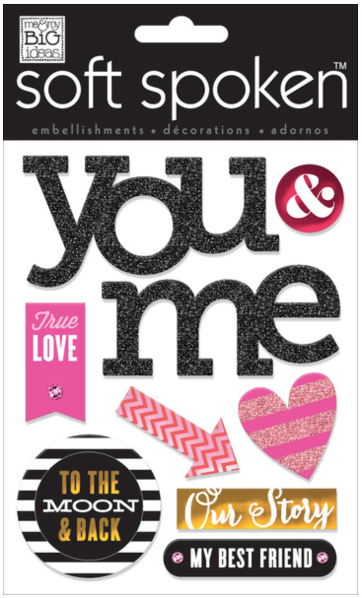 'True Love' SOFT SPOKEN™ Valentine's stickers | me & my BIG ideas