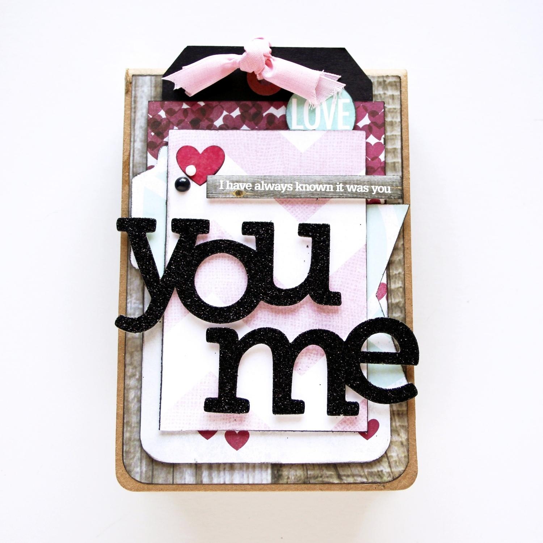 'You & Me' mini book for Valentine's Day