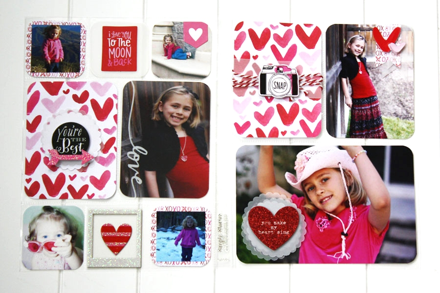 """""""Love You to the Moon"""" POCKET PAGES™ layout by mambi Design Team member Jen Randall 