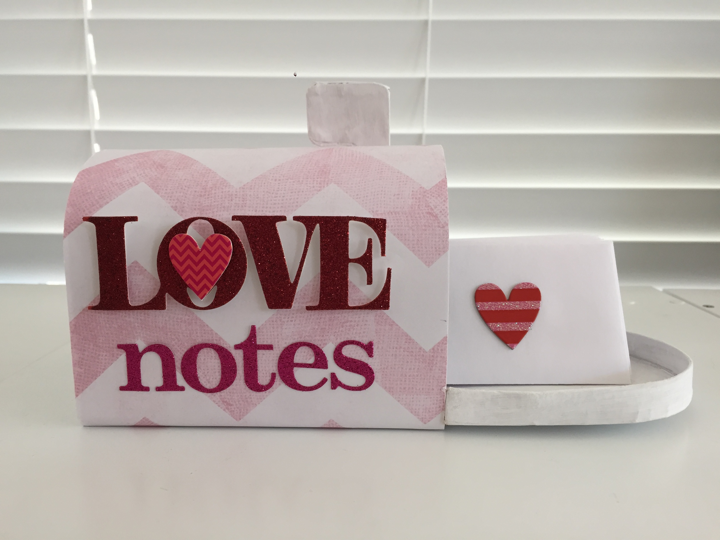 """Love Notes"" Mailbox holiday decor by mambi Design Team member Theresa Doan | me & my BIG ideas"