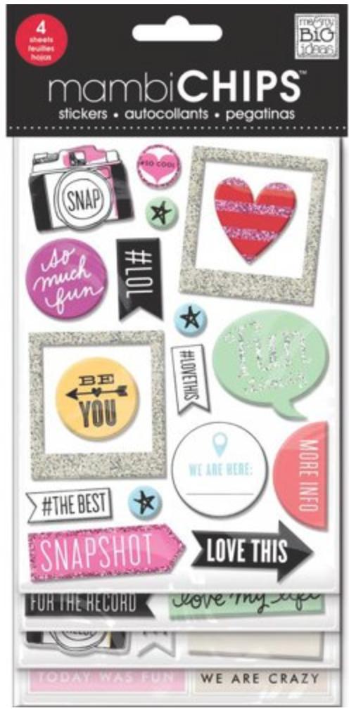 'Insta Love' mambiCHIPS chipboard stickers | me & my BIG ideas