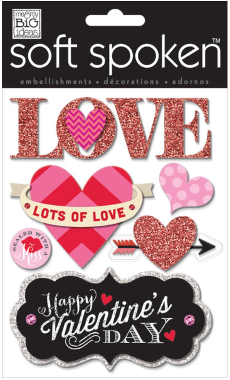 'Lots of Love' SOFT SPOKEN™ Valentine's stickers | me & my Big ideas