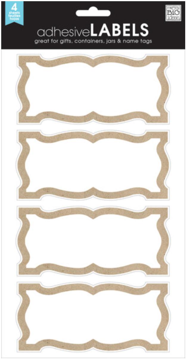 Simple Kraft Border adhesiveLABELS   me & my BIG ideas
