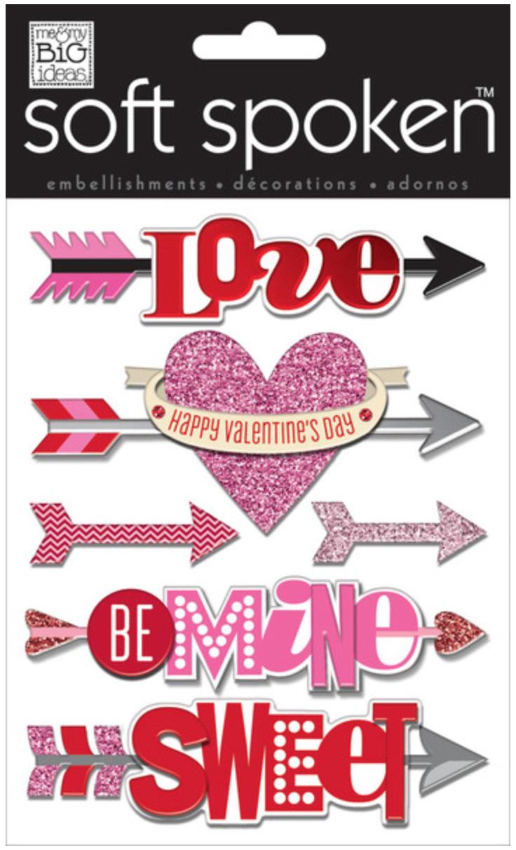 'Be Mine' Arrows SOFT SPOKEN™ Valentine's Day stickers | me & my BIG ideas