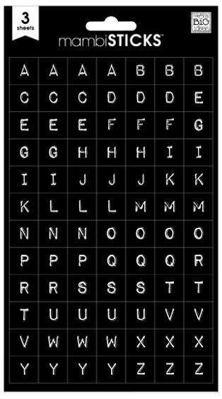 Black Typewriter Alphabet Stickers   me & my BIG ideas