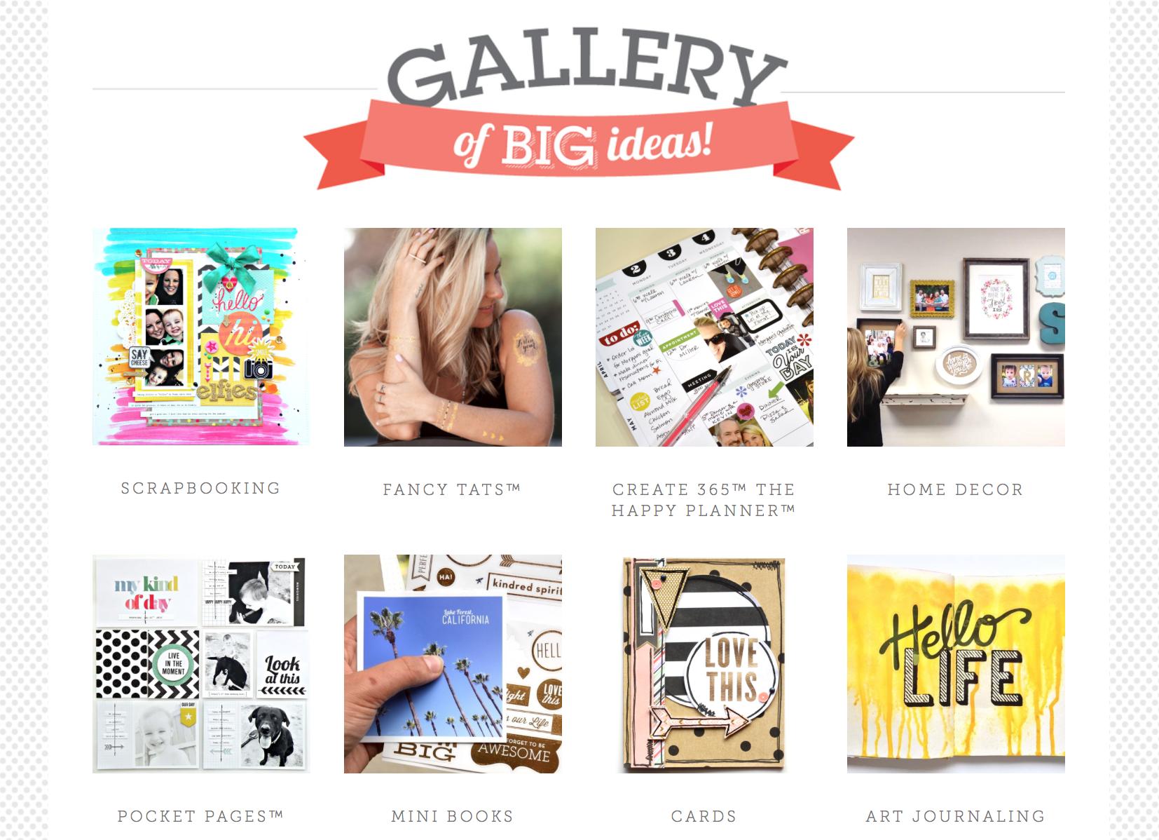 mambi website's new GALLERY of BIG IDEAS | me & my BIG ideas