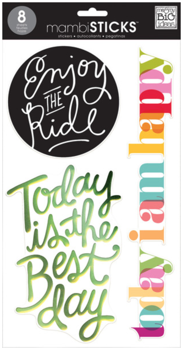 'Today' mambiSTICKS jumbo clear stickers | me & my BIG ideas
