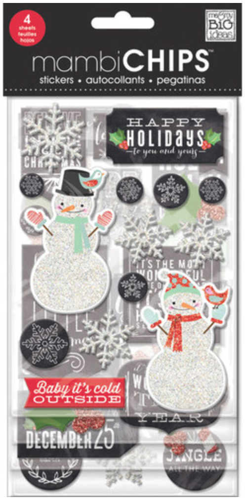 'Baby It's Cold Outside' mambiCHIPS winter chipboard stickers | me & my BIG ideas