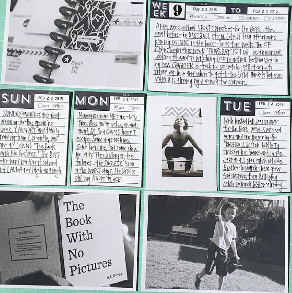 instagram by mambi Design Team member @momruncraft - Days of the Week POCKET PAGES™ free printables | me & my BIG ideas
