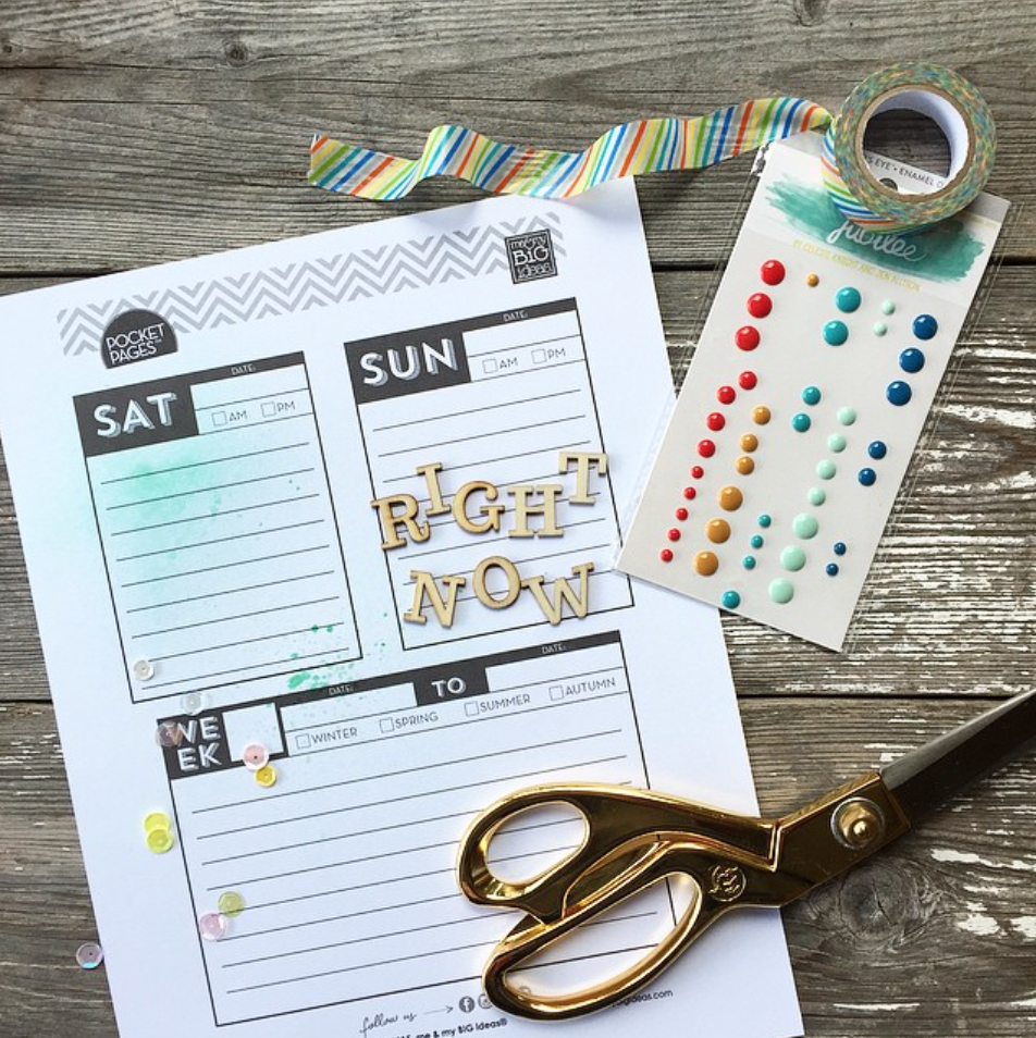 instagram by @ajmcgarvey - Days of the Week POCKET PAGES™ free printables | me & my BIG ideas