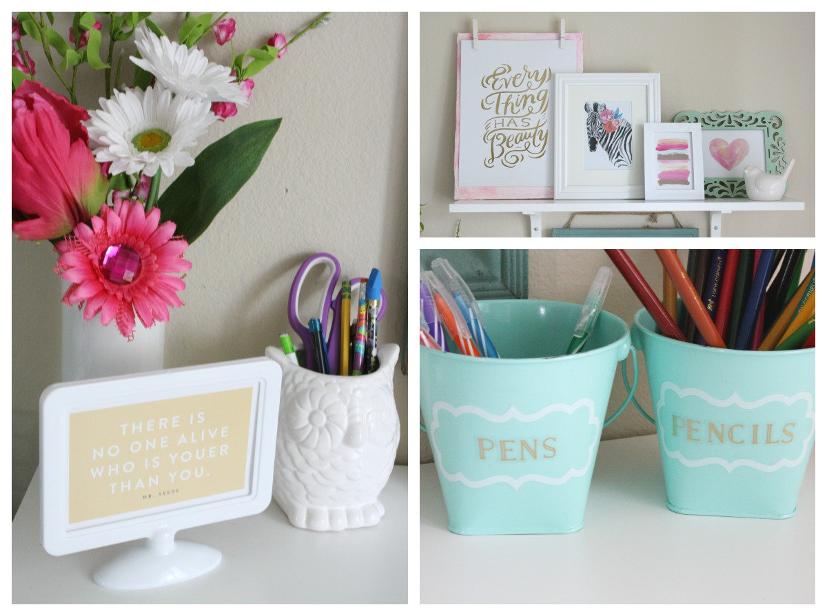 before & after desk makeover by mambi Design Team member Jen Randall | me & my BIG ideas