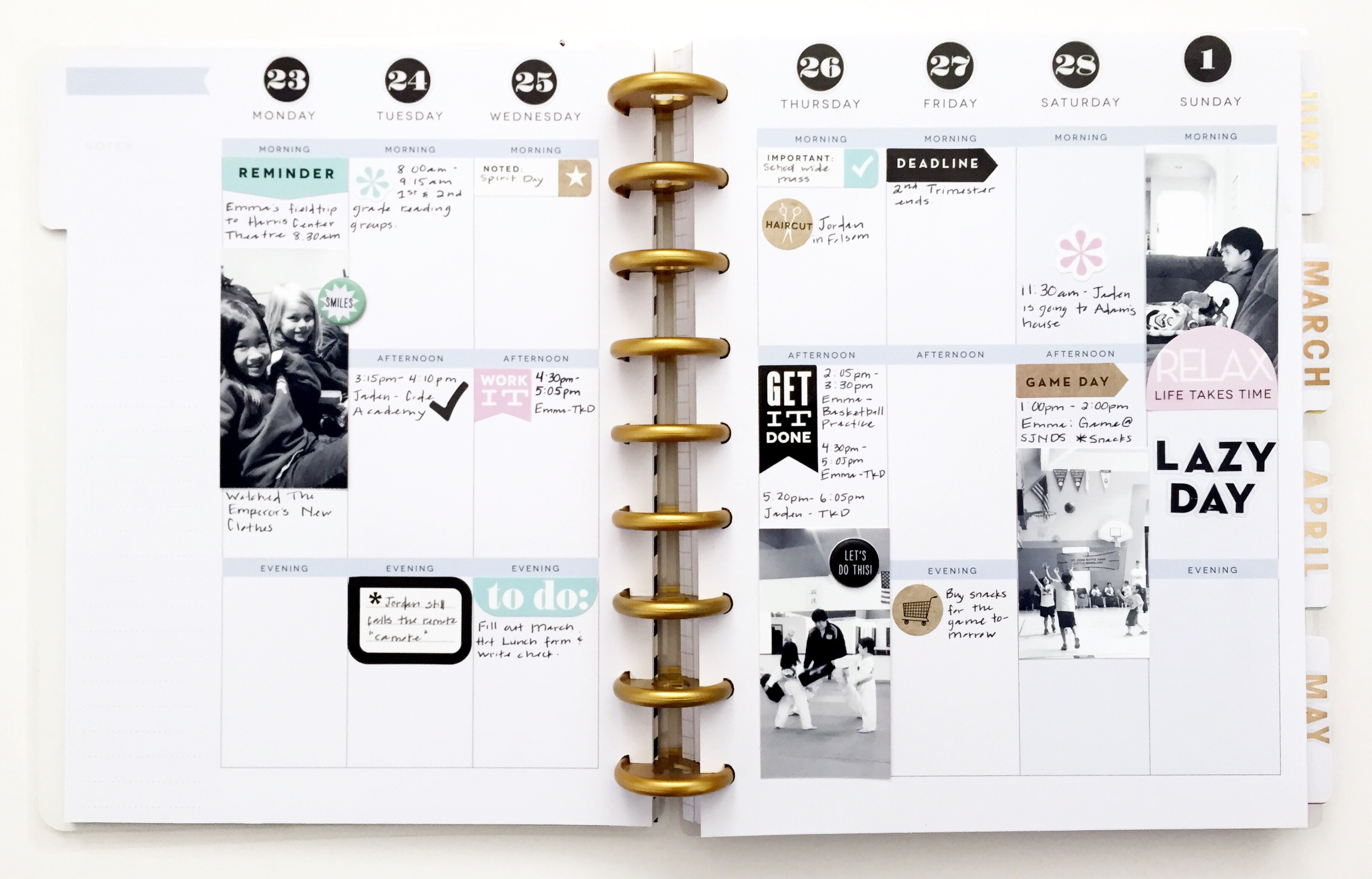 minimalist spread in Create 365™ The Happy Planner™ by mambi Design Team member Theresa Doan | me & my BIG ideas