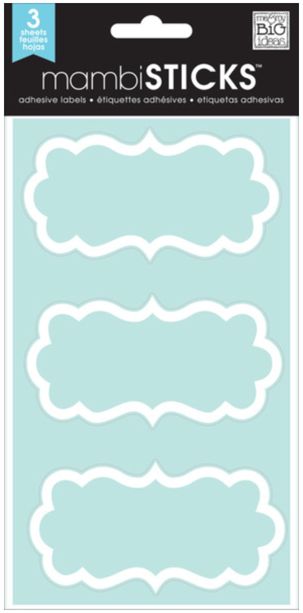 'Fancy White Brackets' mambiSTICKS clear labels | me & my BIG ideas