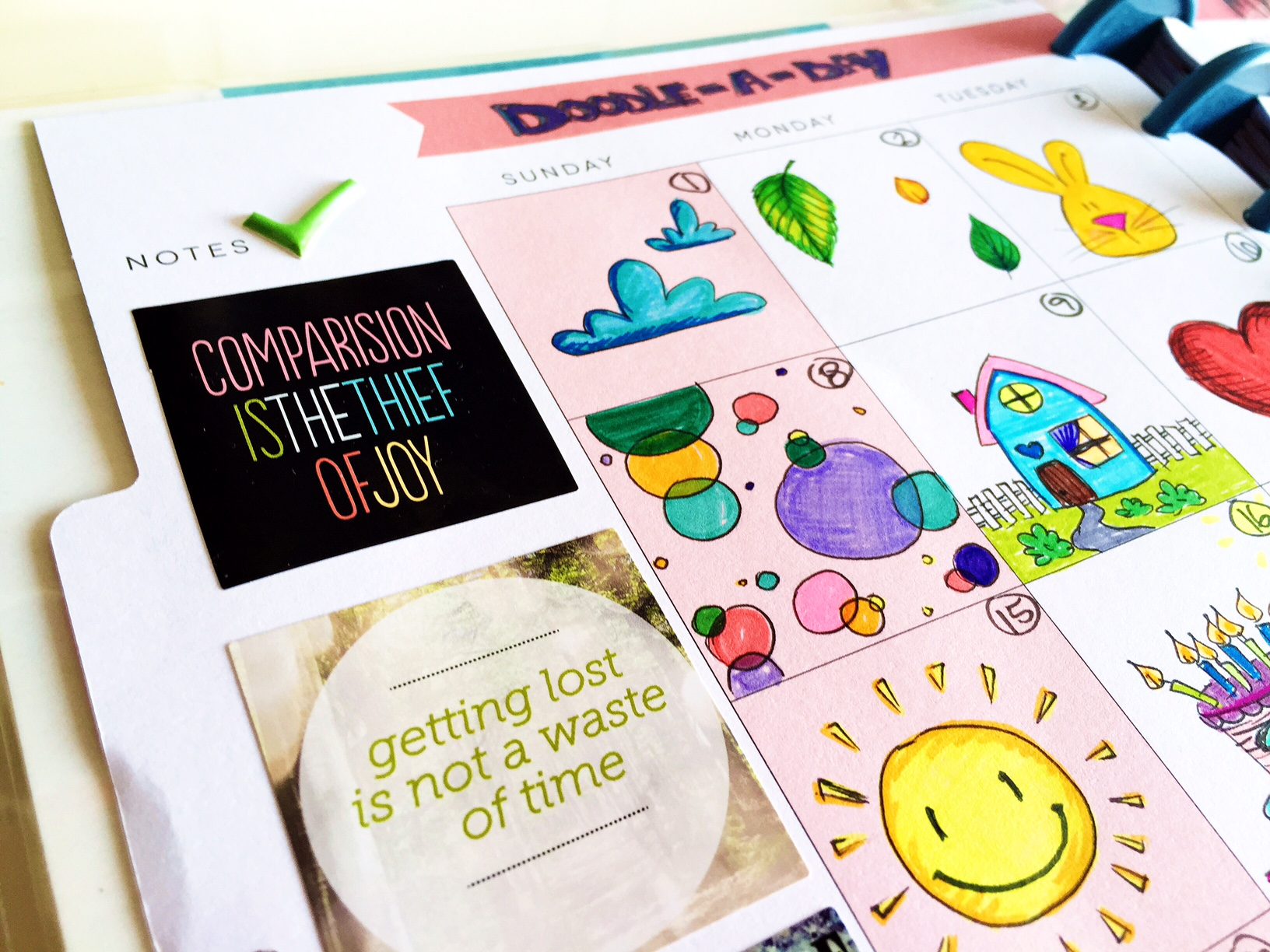 a Doodle-A-Day exercise in Create 365™ The Happy Planner™ by mambi Design Team member Olya Schmidt | me & my BIG ideas