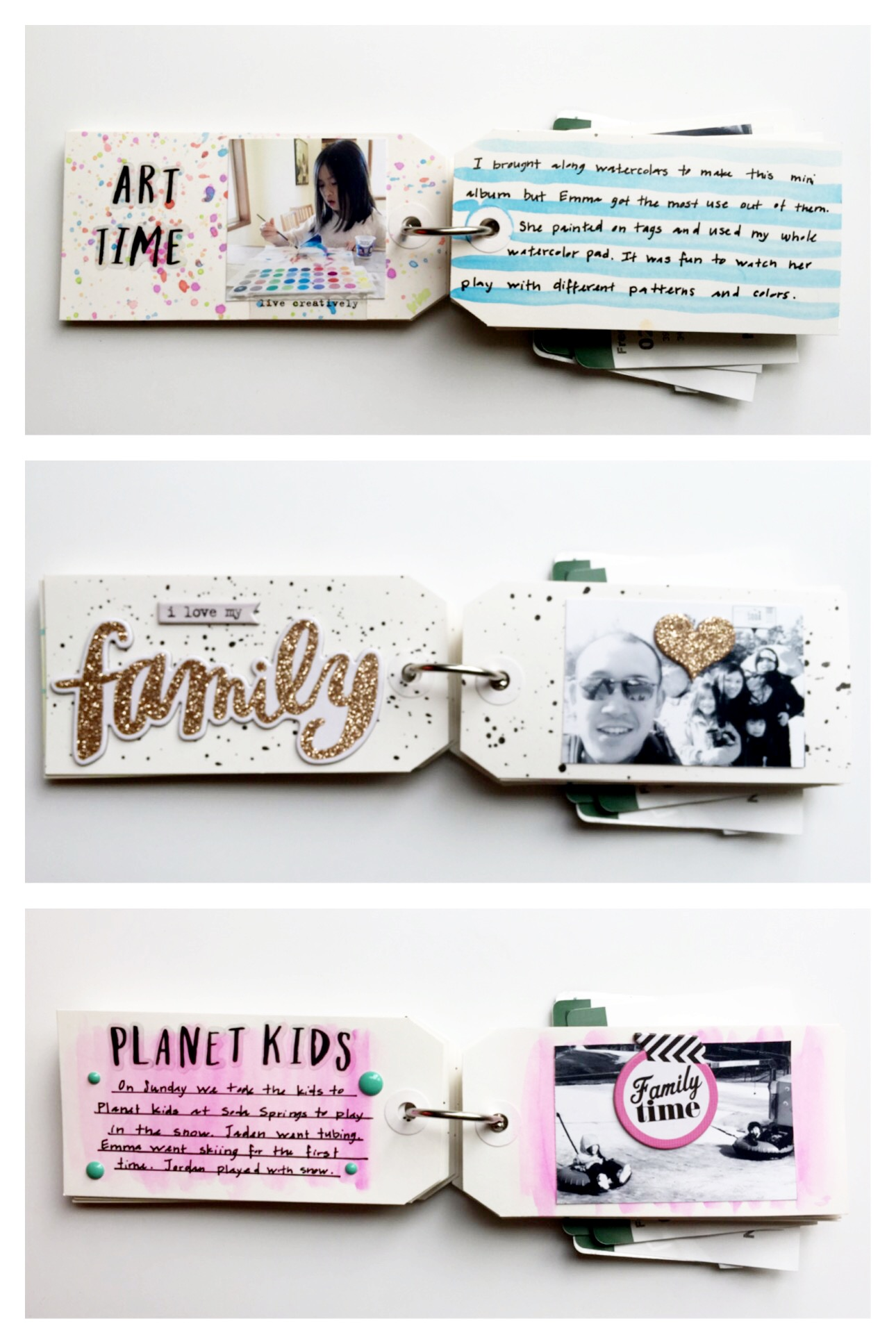 a shipping tag mini book by mambi Design Team member Theresa Doan | me & my BIG ideas