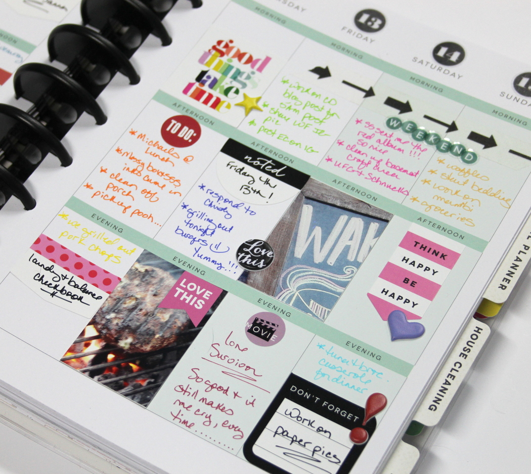 Create 365™ The Happy Planner™ March HAPPINESS weekly spread by mambi Design Team member Candi Billman | me & my BIG ideas