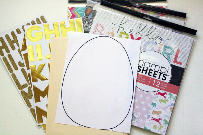 a mambiSHEETS Easter egg holiday kids craft by mambi Design Team member Jen Randall | me & my BIG ideas