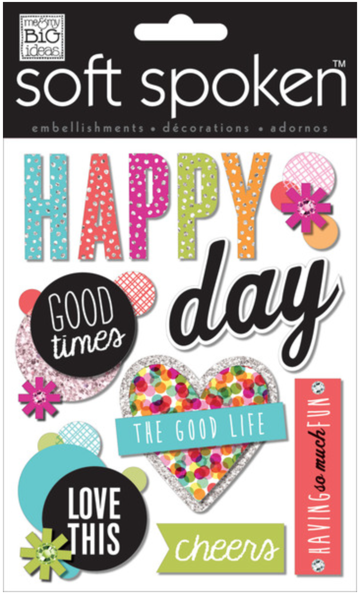 'Happy Day' SOFT SPOKEN™ stickers | me & my BIG ideas