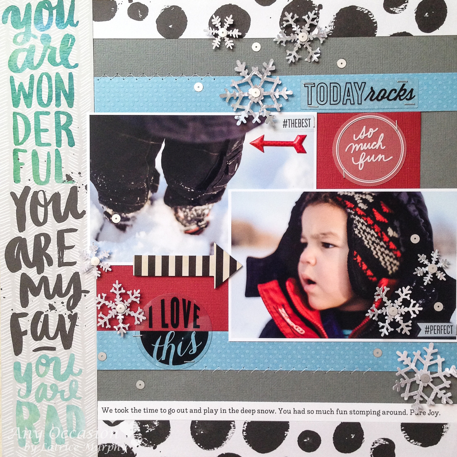 'Today Rocks' scrapbook page
