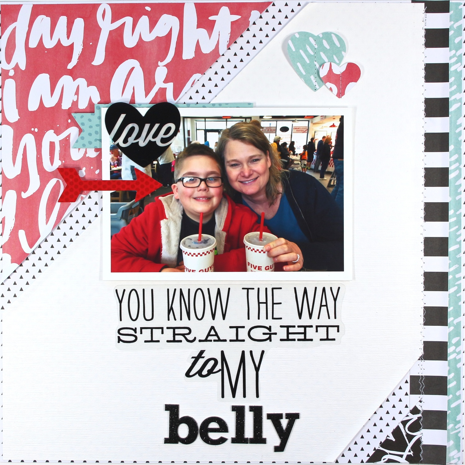 'Straight to my Belly' scrapbook page