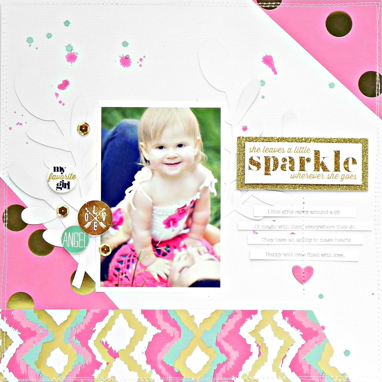 'Sparkle' scrapbook page