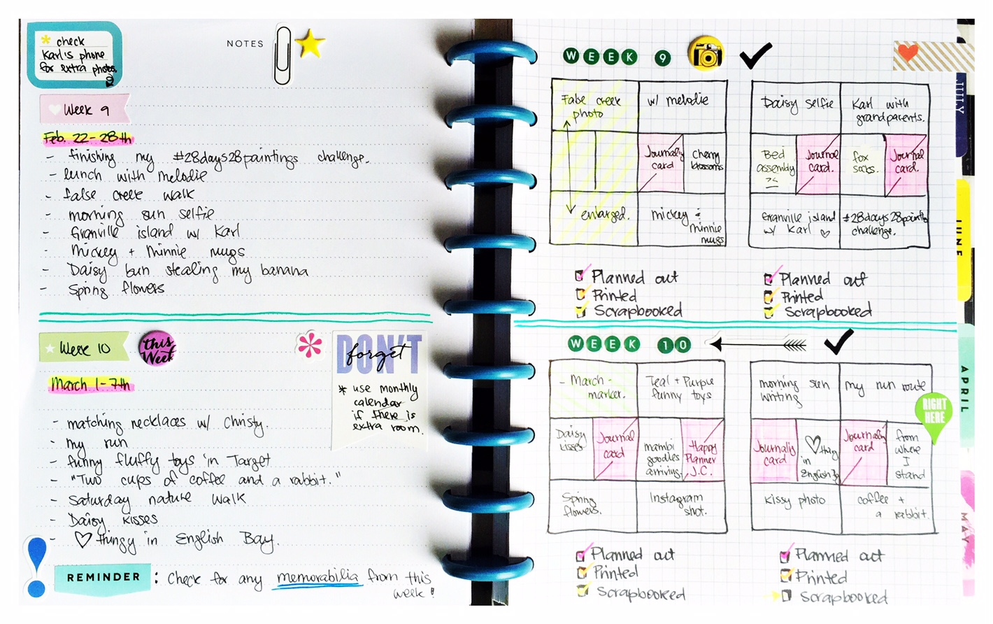 using The Happy Planner™ for POCKET PAGES™ planning by mambi Design Team member Olya Schmidt | me & my BIG ideas