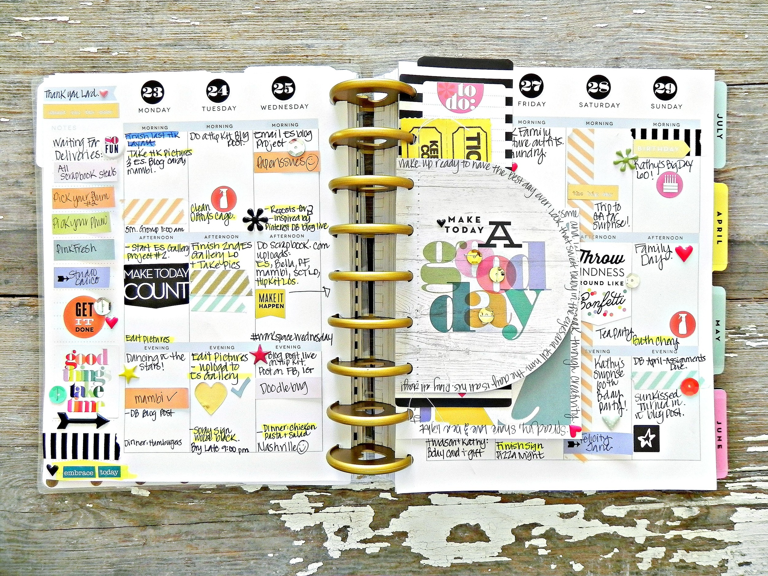 a photoless Create 365™ Happy Planner™ weekly spread by mambi Design Team member Stephanie Buice | me & my BIG ideas